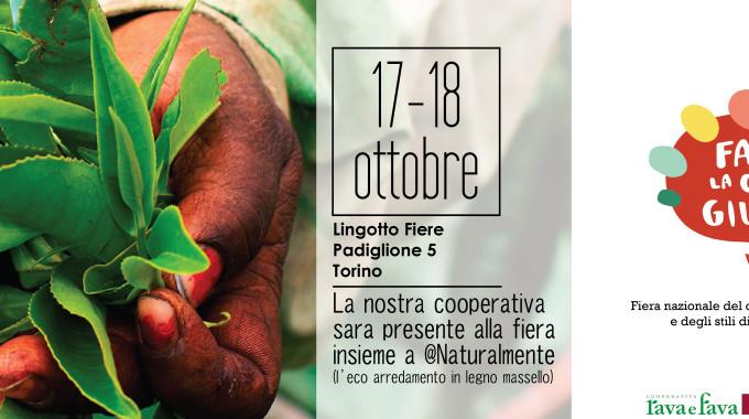 La Nostra Cooperativa Sarà Presente Alla Fiera Fa' La Cosa Giusta A Torino