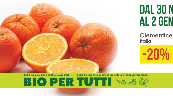 Dal 30 Novembre Al 2 Gennaio. Clementine -20%