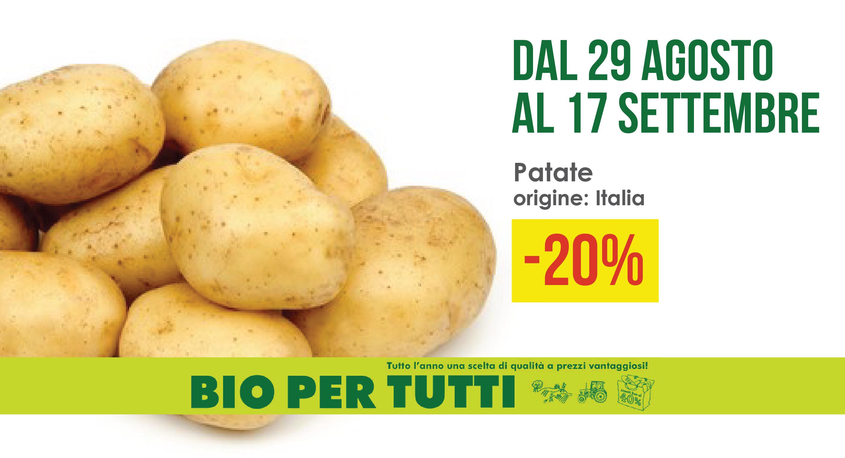 Offerte Bio Per Tutti Dal 29 Agosto Al 17 Settembre: Patate