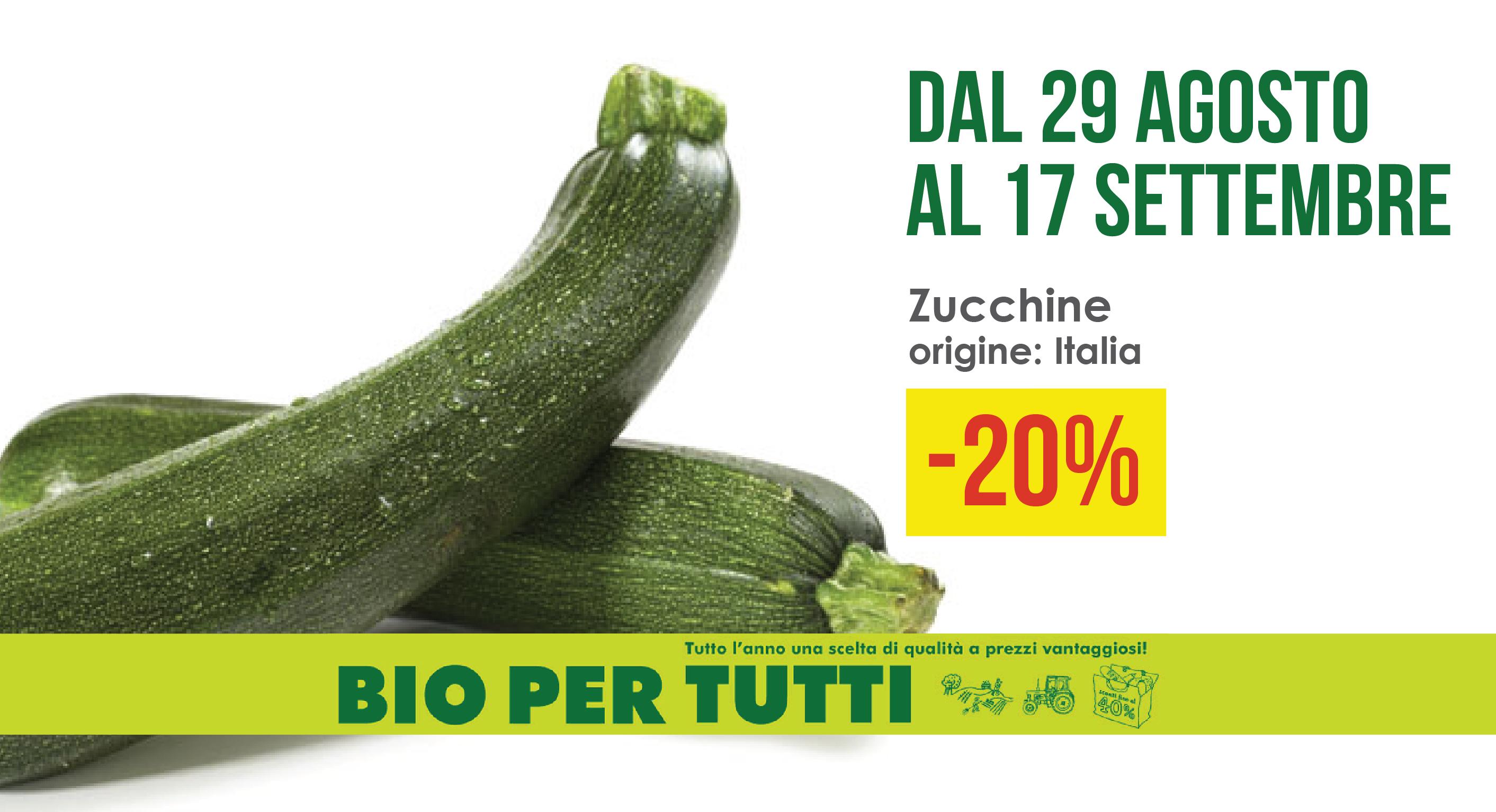 Offerte Bio Per Tutti Dal 29 Agosto Al 17 Settembre: Zucchine