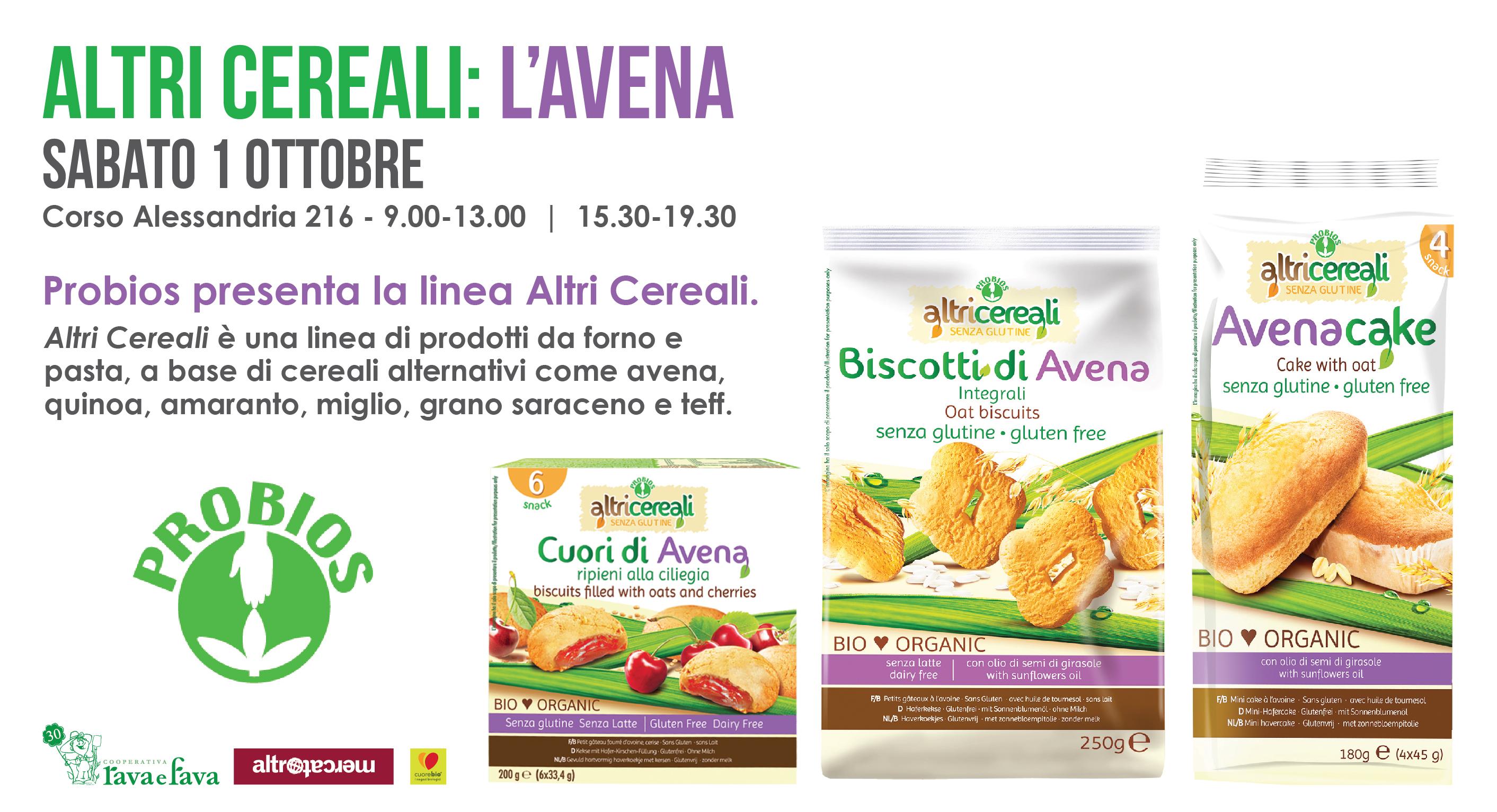Probios Presenta La Linea Altri Cereali: L'avena.