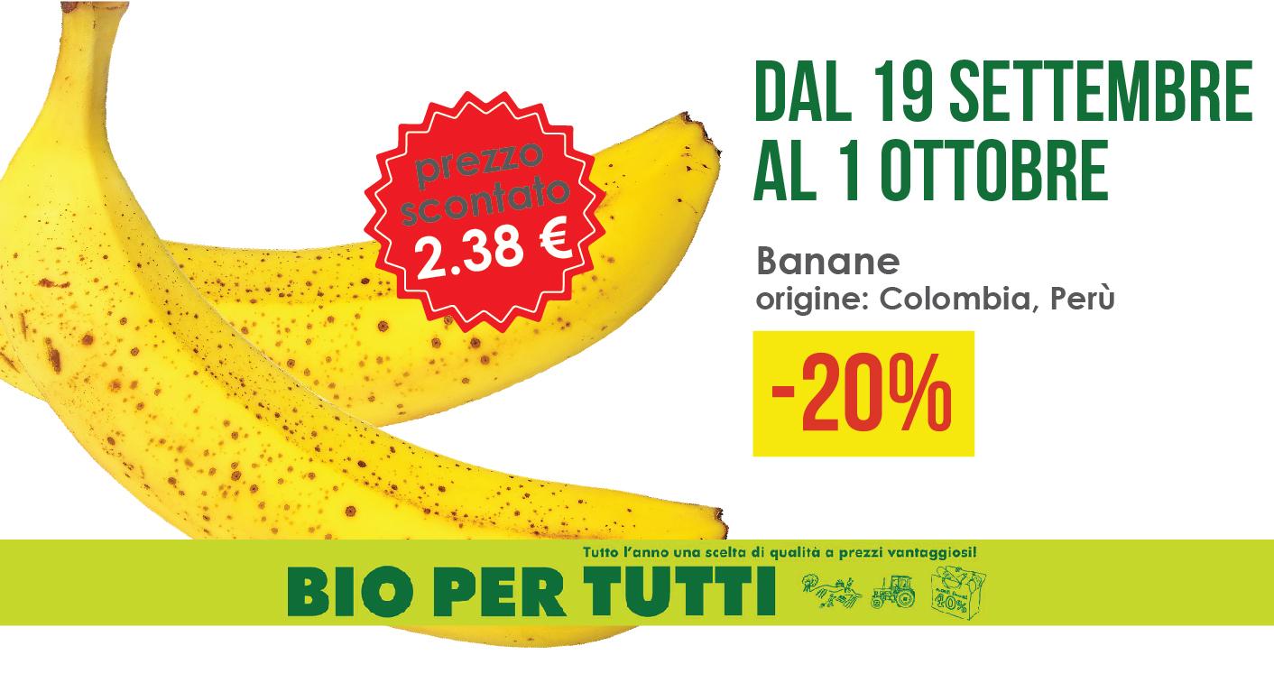 Offerte Bio Per Tutti Dal 19 Settembre Al 1 Ottobre: Banane