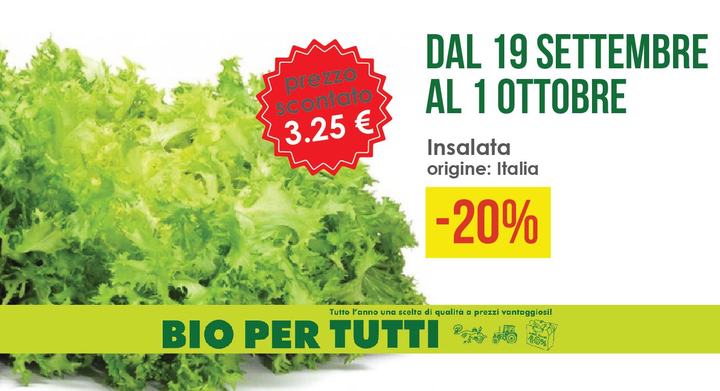 Offerte Bio Per Tutti Dal 19 Settembre Al 1 Ottobre: Insalata