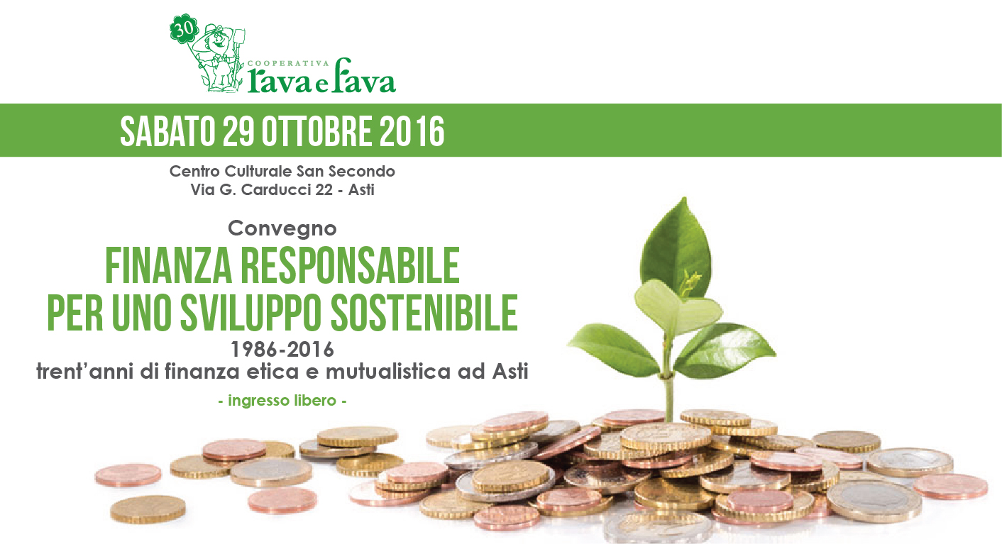 """Convegno """"Finanza Responsabile Per Uno Sviluppo Sostenibile"""""""
