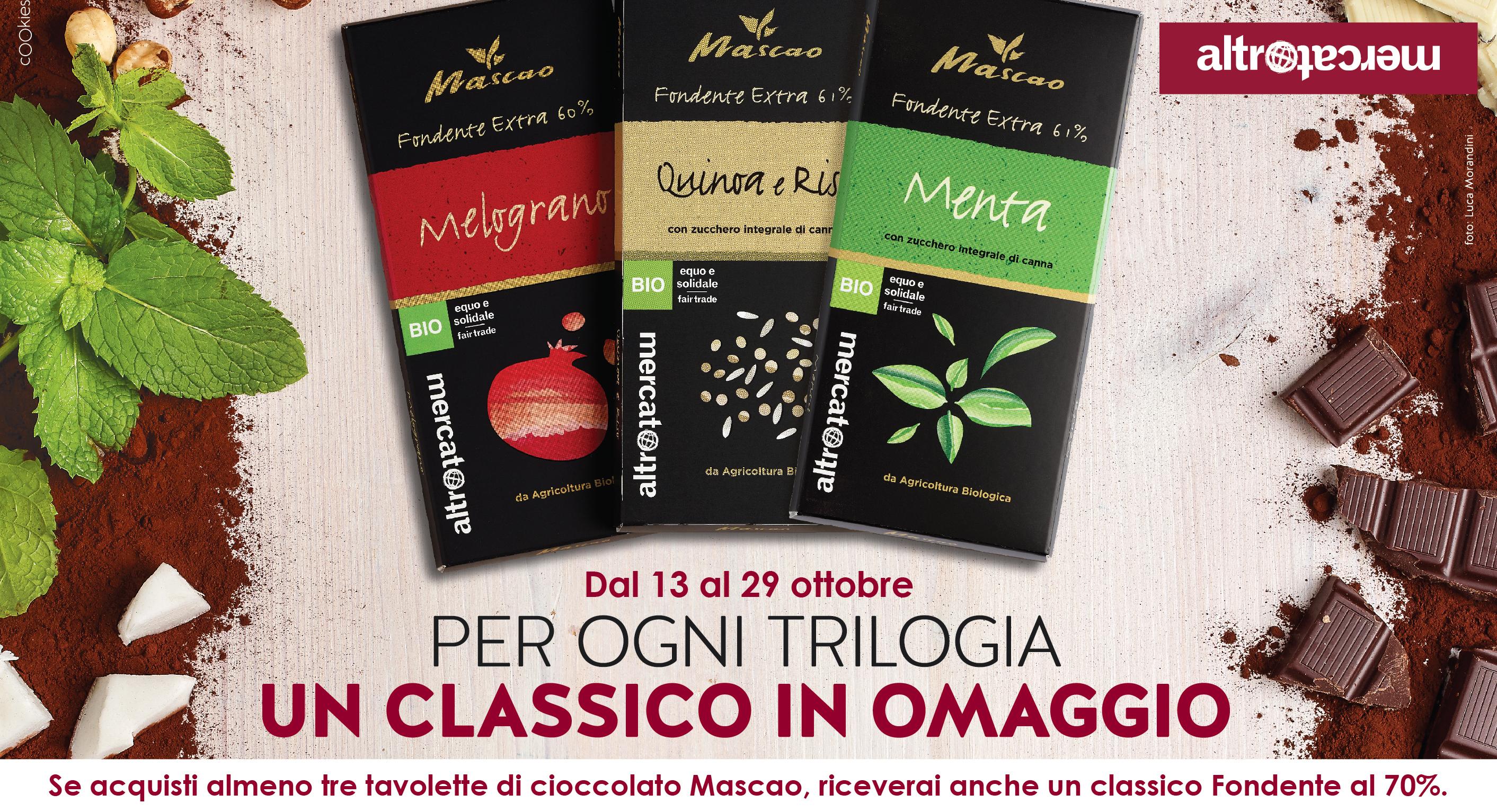 """Dal 13 Al 29 Ottobre – Promo Cioccolato: Per Ogni Trilogia Un """"classico"""" In Omaggio."""