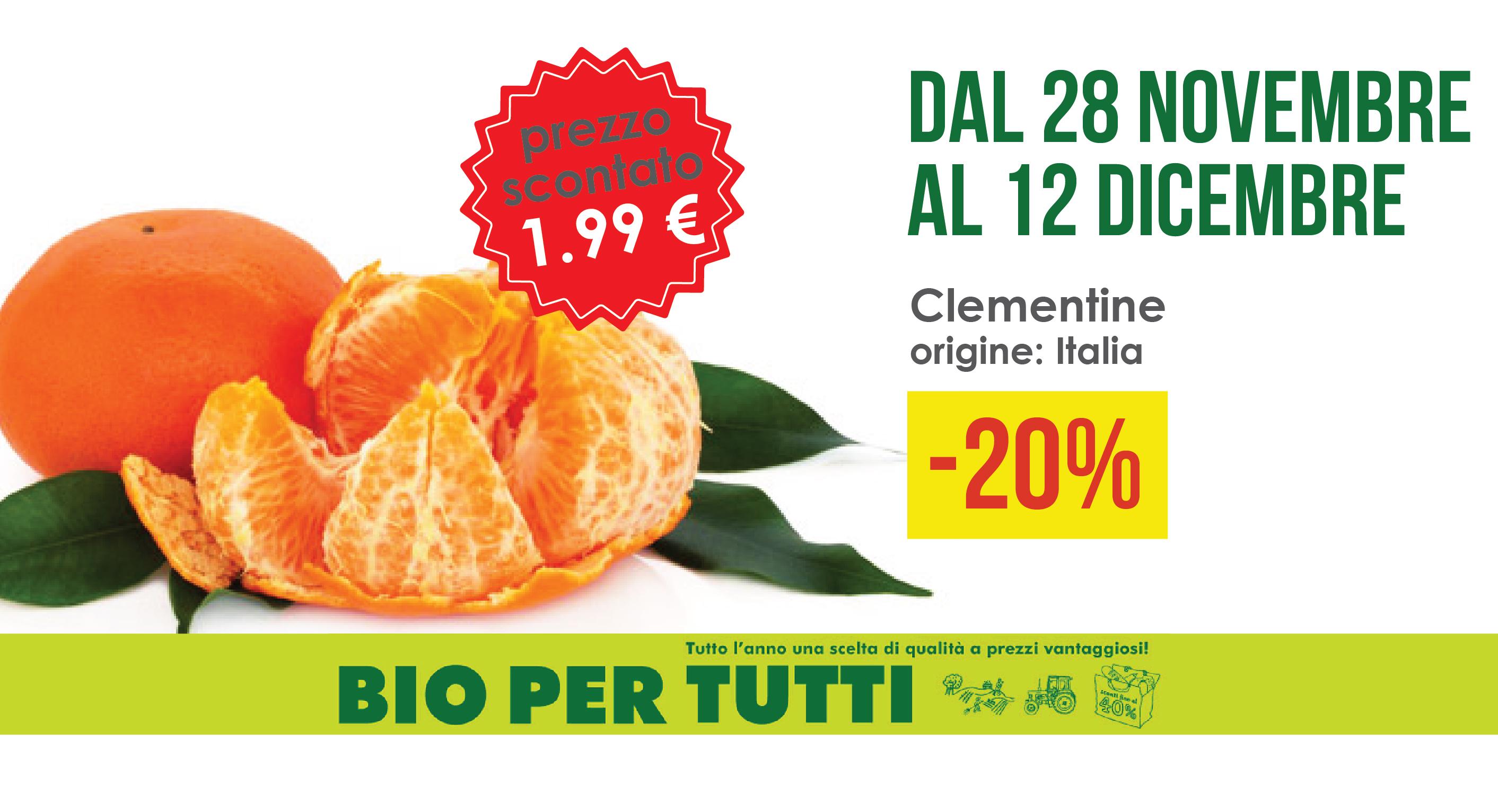 Offerte Bio Per Tutti Dal 28 Novembre Al 12 Dicembre: Clementine