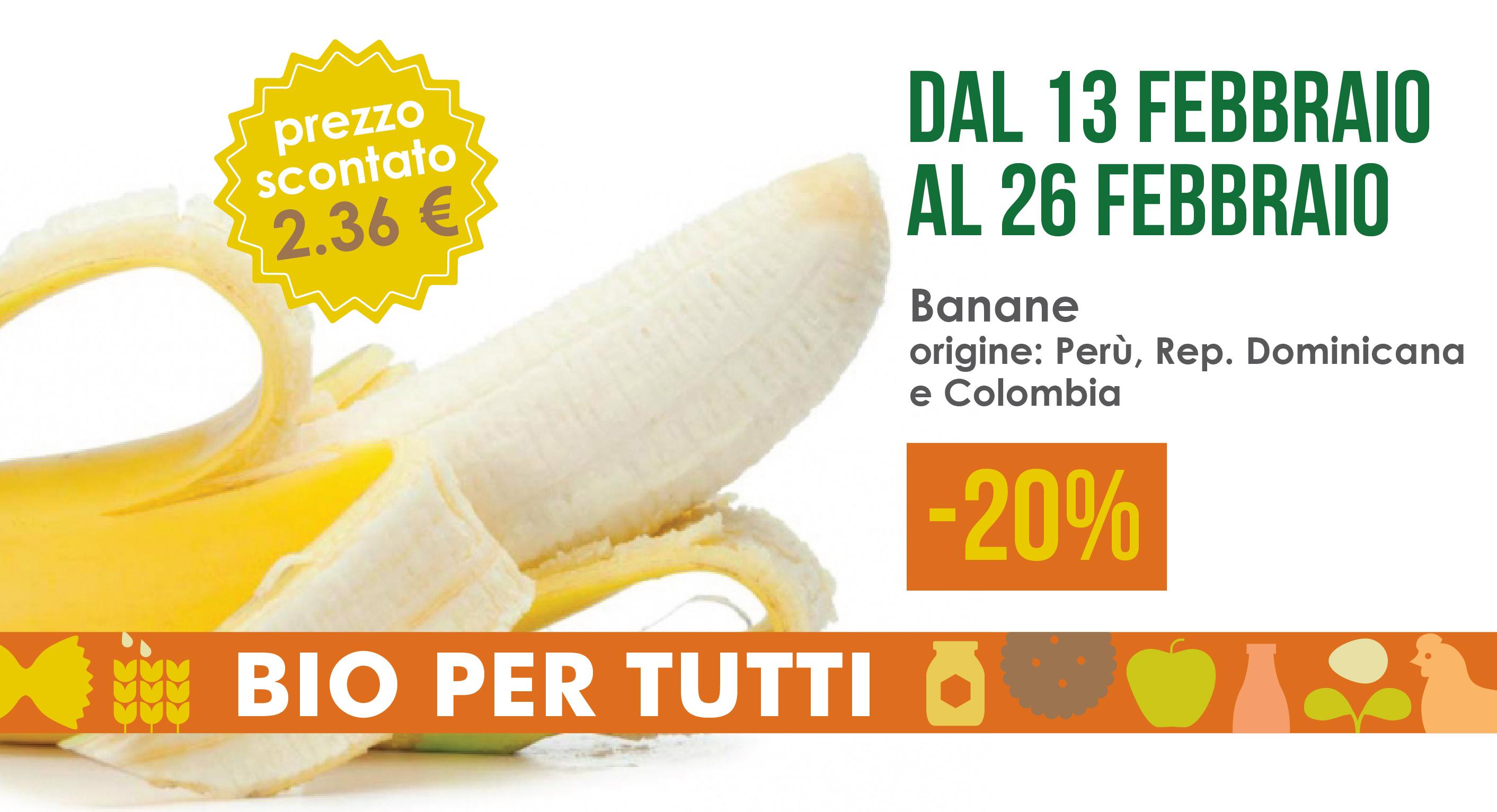 Offerte Bio Per Tutti Dal 13 Al 26 Febbraio: Banane