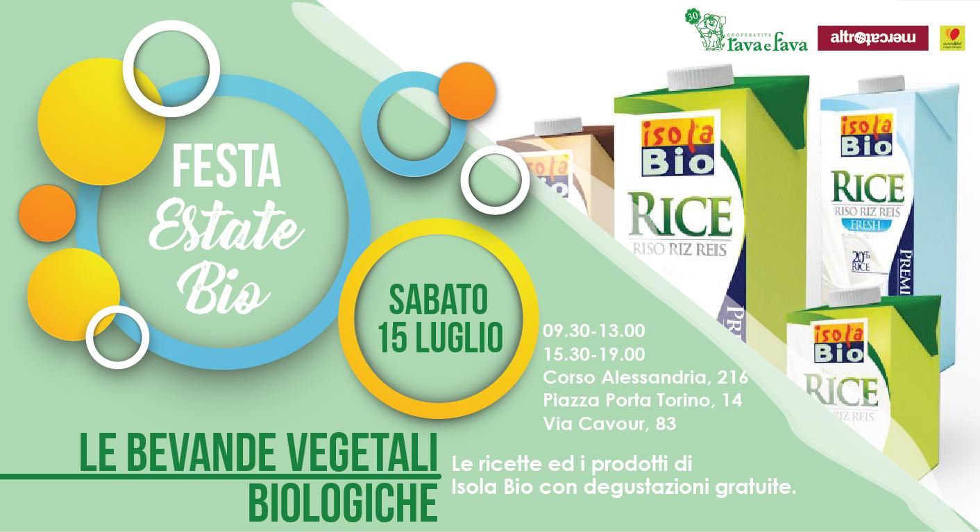 Le Bevande Vegetali Biologiche – Festa Estate Bio