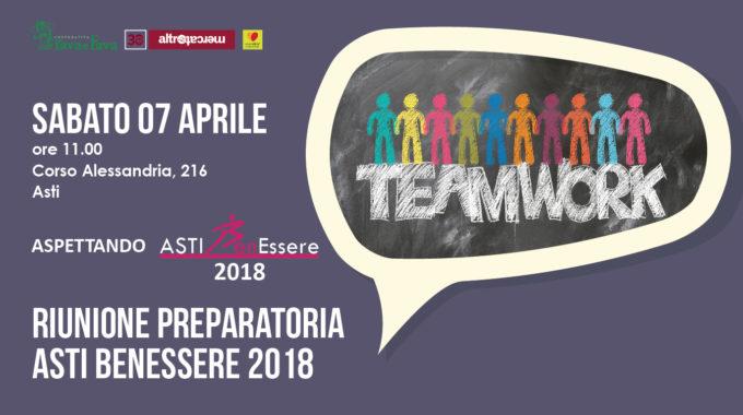 Riunione Preparatoria Asti Benessere 2018