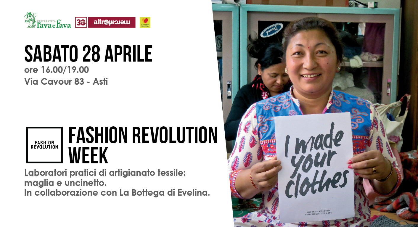 Fashion Revolution Week: Laboratori