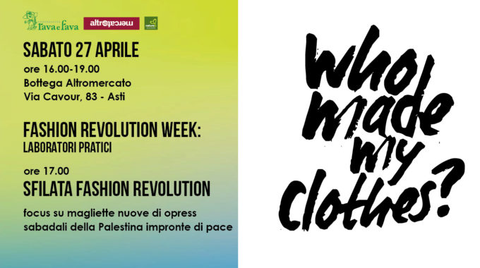 Fashion Revolution Week: Laboratori Pratici