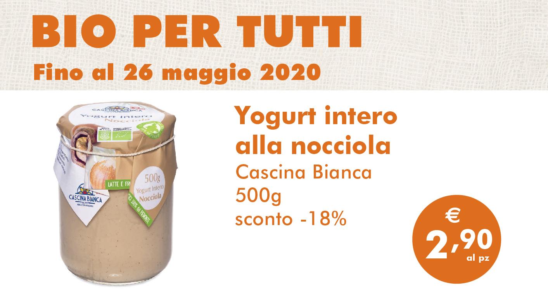 Bio Per Tutti: Yogurt Intero Alla Nocciola