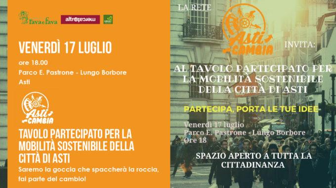 Tavolo Partecipato Per La Mobilità Sostenibile Della Città Di Asti