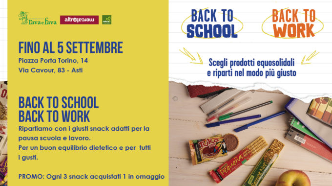 Back To School – Back To Work